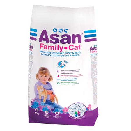 Asan Family Cat Paper Litter - 42 Litres