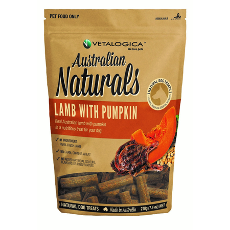 Australian Naturals Dog Lamb & Pumpkin Treats 210g
