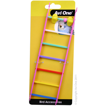 Avi One Bird Toy Ladder with Geometric Beads