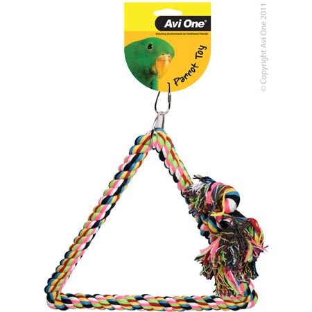 Avi one Parrot Toy Tri-Angle Rope Swing - 20mm X 35cm L