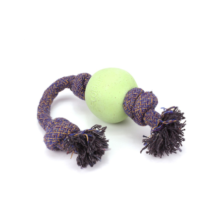 BecoThings Ball with Rope Eco Friendly Dog Toy Green Large (50cm)