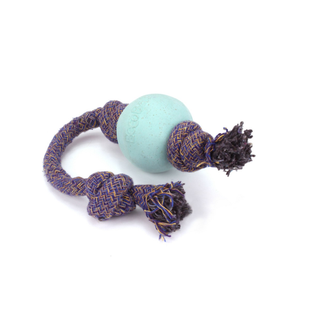 BecoThings Eco-Friendly Ball with Rope Small -Blue
