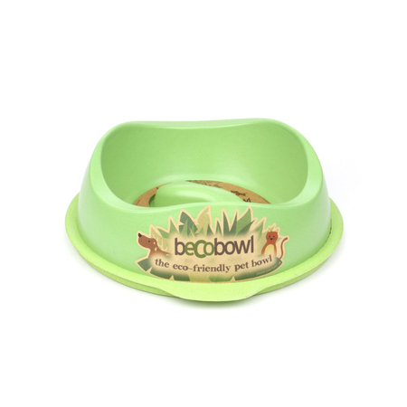 BecoThings Eco Friendly Slow Feed Dog Bowl Green Large (1.25lt)