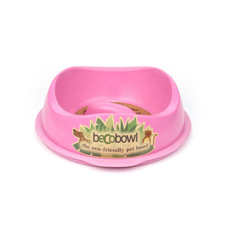 BecoThings Eco Friendly Slow Feed Dog Bowl Pink Large (1.25lt)