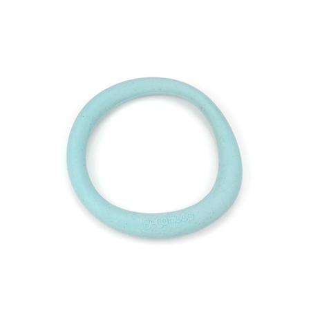 BecoThings Rubber Hoop Eco Friendly Dog Toy Blue Large (16.5cm)
