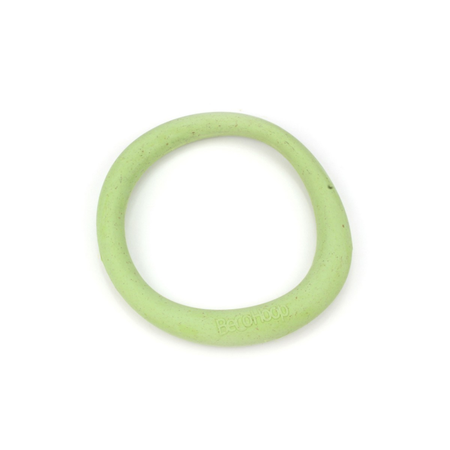 BecoThings Rubber Hoop Eco Friendly Dog Toy Green Large (16.5cm)