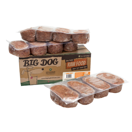 Big Dog Frozen Raw Dog Food Lamb - 3kg