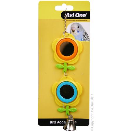 Bird Toy Double Buttercup Mirror