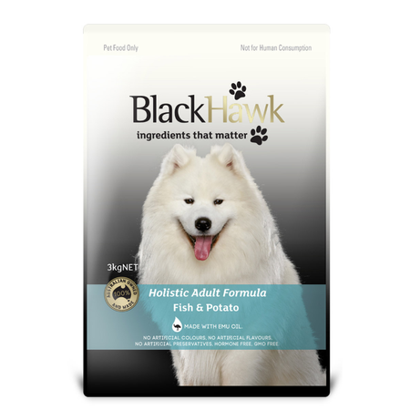 Black Hawk Adult Fish and Potato Dry Dog Food  3kg