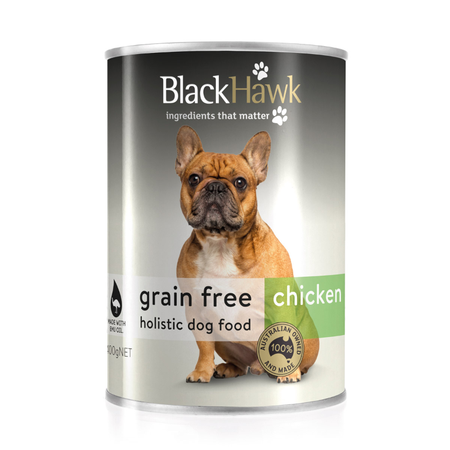 Black Hawk Dog Grainfree Chicken Can - 400gm