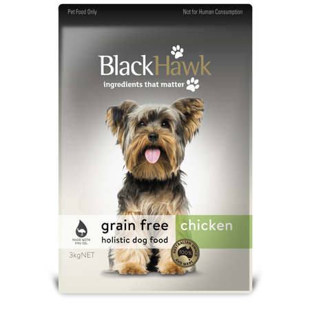Black Hawk Dog Grainfree Chicken - 3kg