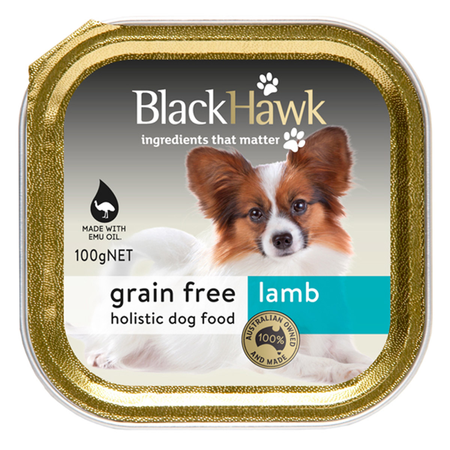 Black Hawk Dog Grainfree Lamb - 100gm