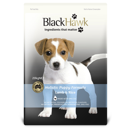 Black Hawk Puppy Lamb and Rice Dry Puppy Food  20kg