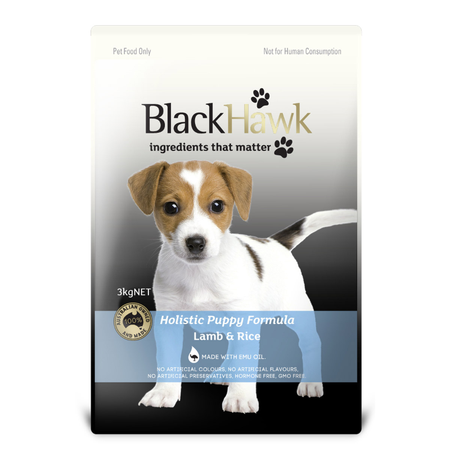 Black Hawk Puppy Lamb and Rice Dry Puppy Food  3kg