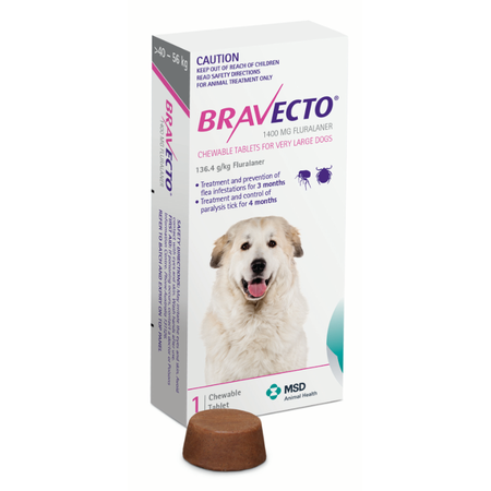 Bravecto flea & tick chewable tablet for very large dogs - 1 pk