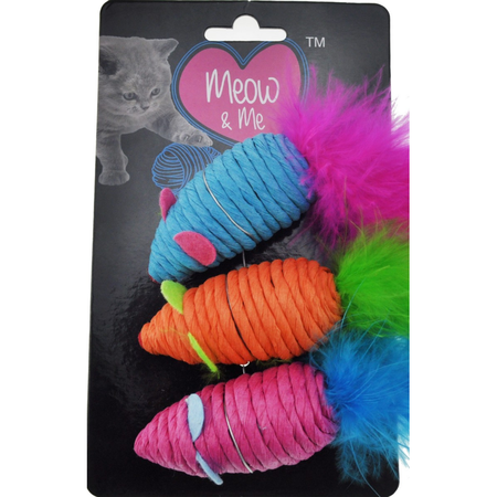 Brite 3 pc Spiral Feather Mouse