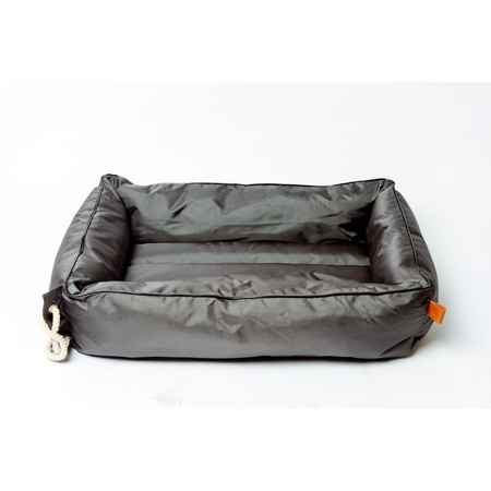 Buddy & Belle Bolster Bed Black Waterproof Large