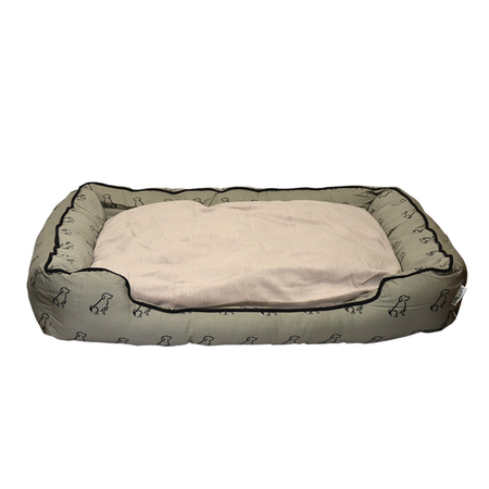 Buddy & Belle Bolster Dog Bed Grey Medium (80cmx60cmx17cm)