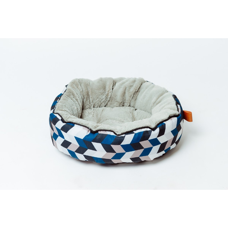 Buddy & Belle Cat Circular Fleece Bed Geo Print