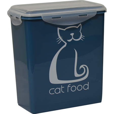 Buddy & Belle Cat Food Container Blue