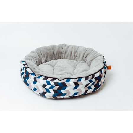 Buddy & Belle Circular Fleece Bed Geo Print Small