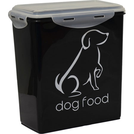 Buddy & Belle Dog Food Container Black