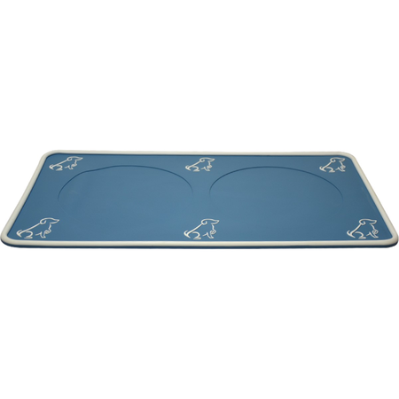 Buddy & Belle Dog Placemat Blue