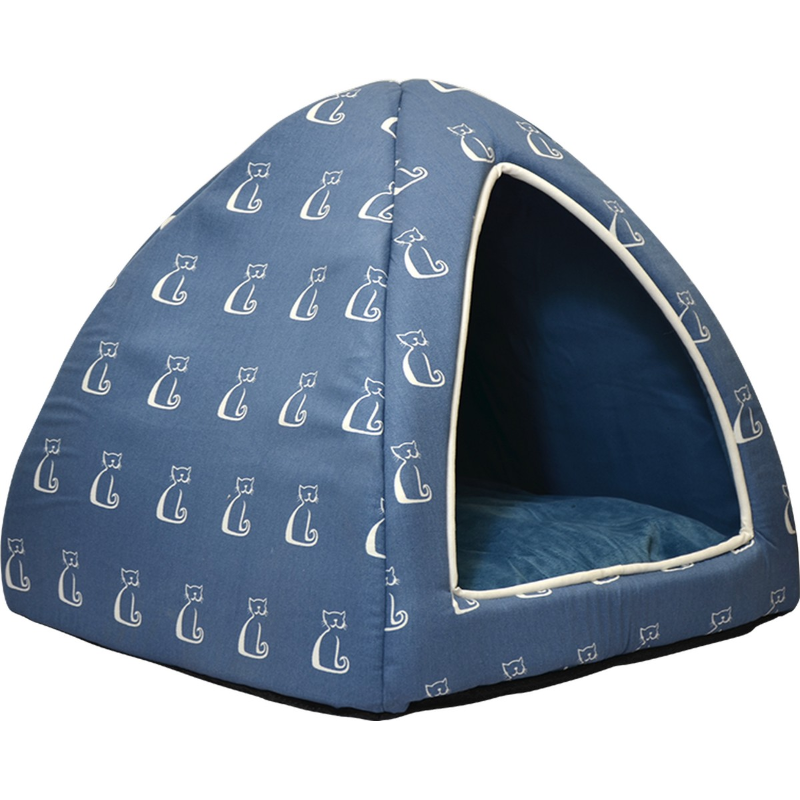 Buddy & Belle Igloo Cat Bed Blue