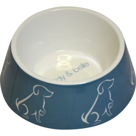 Buddy & Belle Plastic Dog Bowl Blue