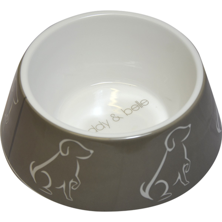 Buddy & Belle Plastic Dog Bowl Grey