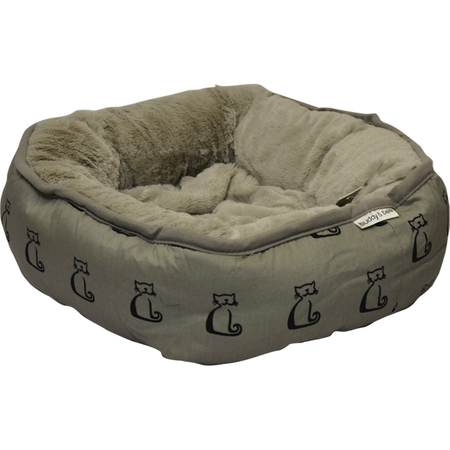 Buddy & Belle Round Cat Bed Grey