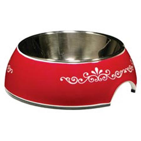 Catit 2 in 1 Dura Cat Bowl Extra Small Red Swirl - 160ml
