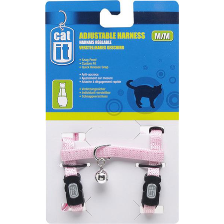 Catit Nylon Adjustable Cat Harness Pink Medium