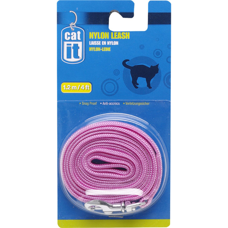 Catit Nylon Cat Lead Pink