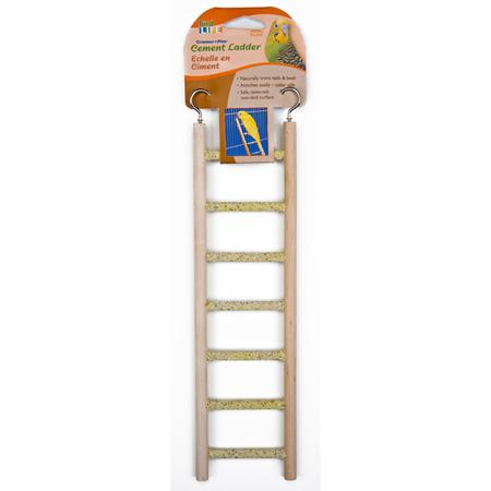 Cement Bird Ladder with Wooden Frame Woodgrain 7 Step