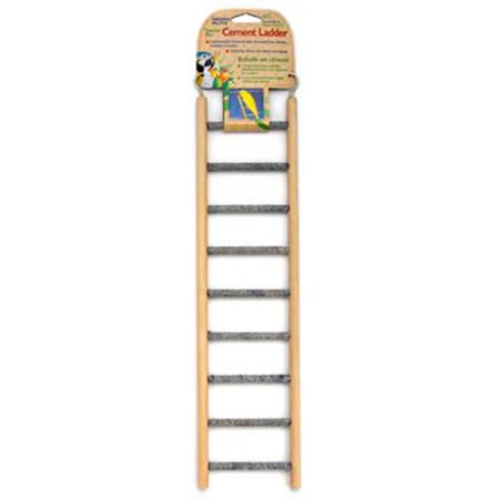 Cement Bird Ladder with Wooden Frame Woodgrain 9 Step