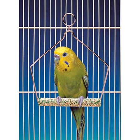 Cement Bird Swing with Wire Frame 4in