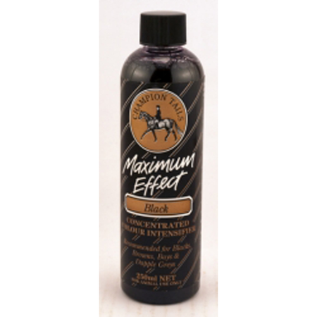 Champion Tails Maximum Effect Black Colour Intensifier for Horses  250ml