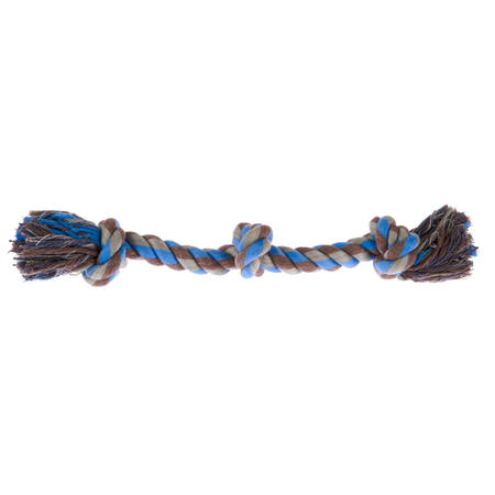 Chewers 3 Knot Rope Dog Toy Blue Small (35.5cm)