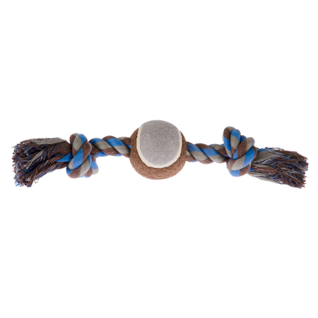 Chewers Ball/Bone Rope Blue - Medium