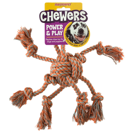 Chewers Rope Octopus Dog Toy Orange Medium