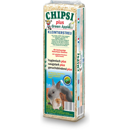 Chipsi Litter Green Apple Scented Wood Shavings Small Animal Bedding Beige 15L (1kg)