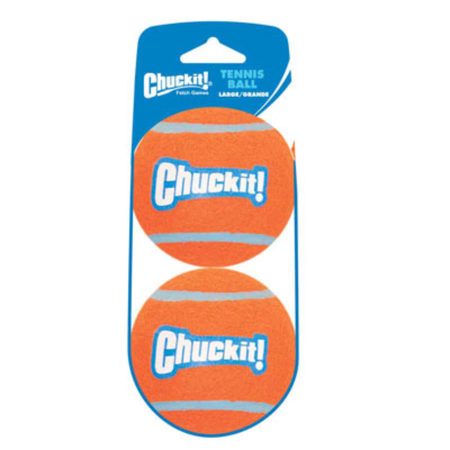 Chuckit Tennis Ball Dog Toy 2 Pack Orange Large