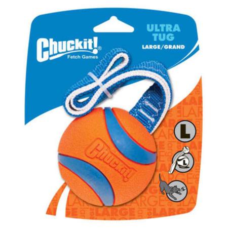 Chuckit Ultra Tug Ball Dog Toy Orange Large
