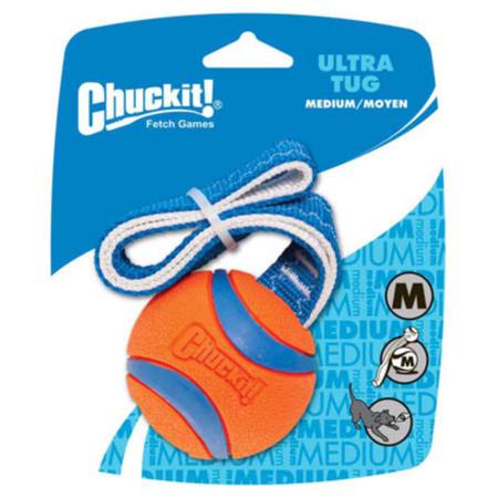 Chuckit Ultra Tug Ball Dog Toy Orange Medium