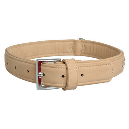 Cocovana Buffalo Gems Dog Collar Beige Large (45-58cm)
