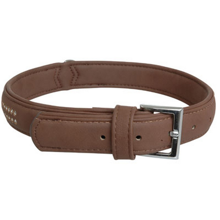 Cocovana Buffalo Gems Dog Collar Brown Large (45-58cm)