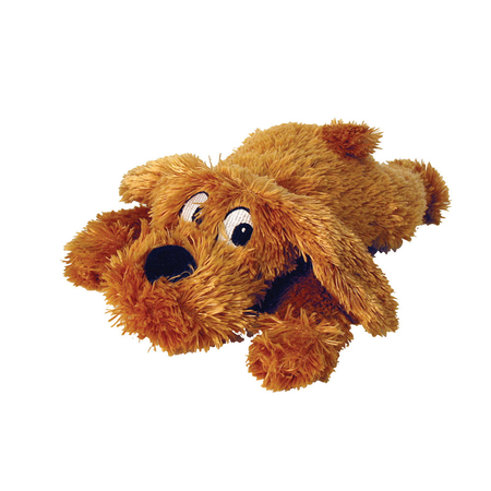 Cuddles Squeaky Plush Muff Pups Dog Toy Brown Small (28cm)