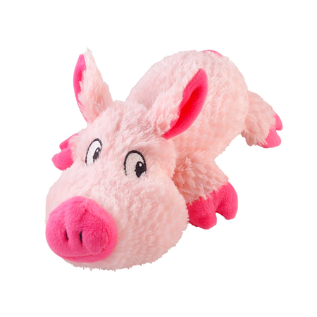 Cuddles Squeaky Plush Pig Dog Toy Pink Small (22cm)