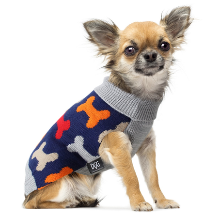 DGG Bone Print Dog Jumper Small (30cm)